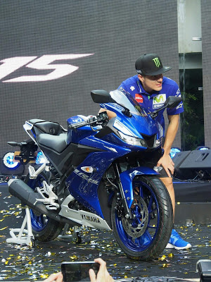 All New R15 2017 racing blue with Vinales