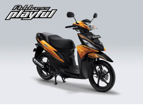 Pilihan Warna Suzuki Address Playful warna Majestic Gold