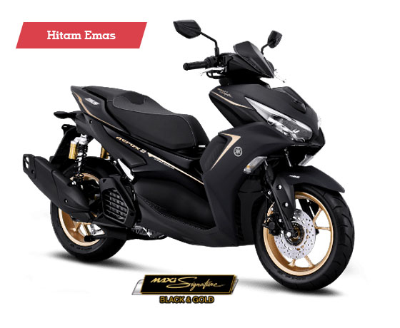 Warna Aerox 155 Connected ABS Maxi Signature Black Gold
