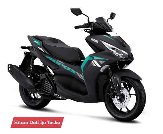 Warna Aerox 155 Connected STD Matte Black Cyan
