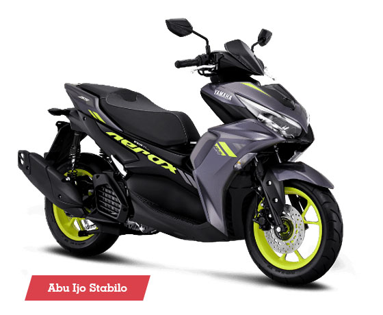 Warna Aerox 155 Connected STD Dark Grey Yellow